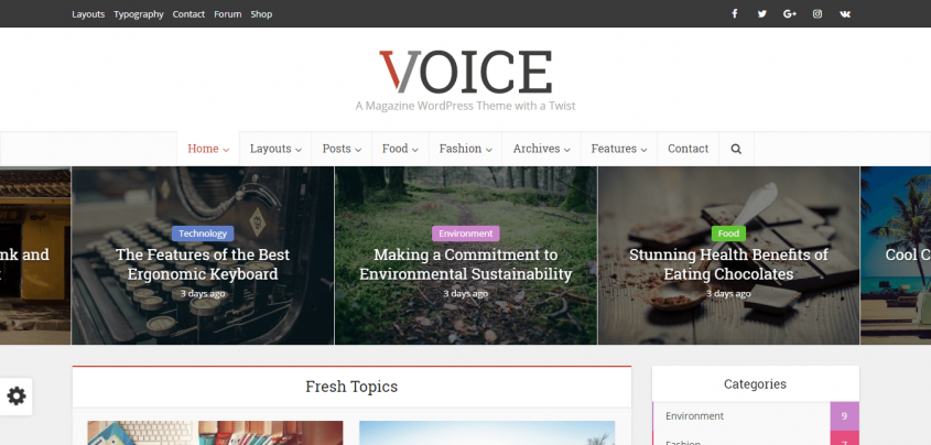 Voice wp theme